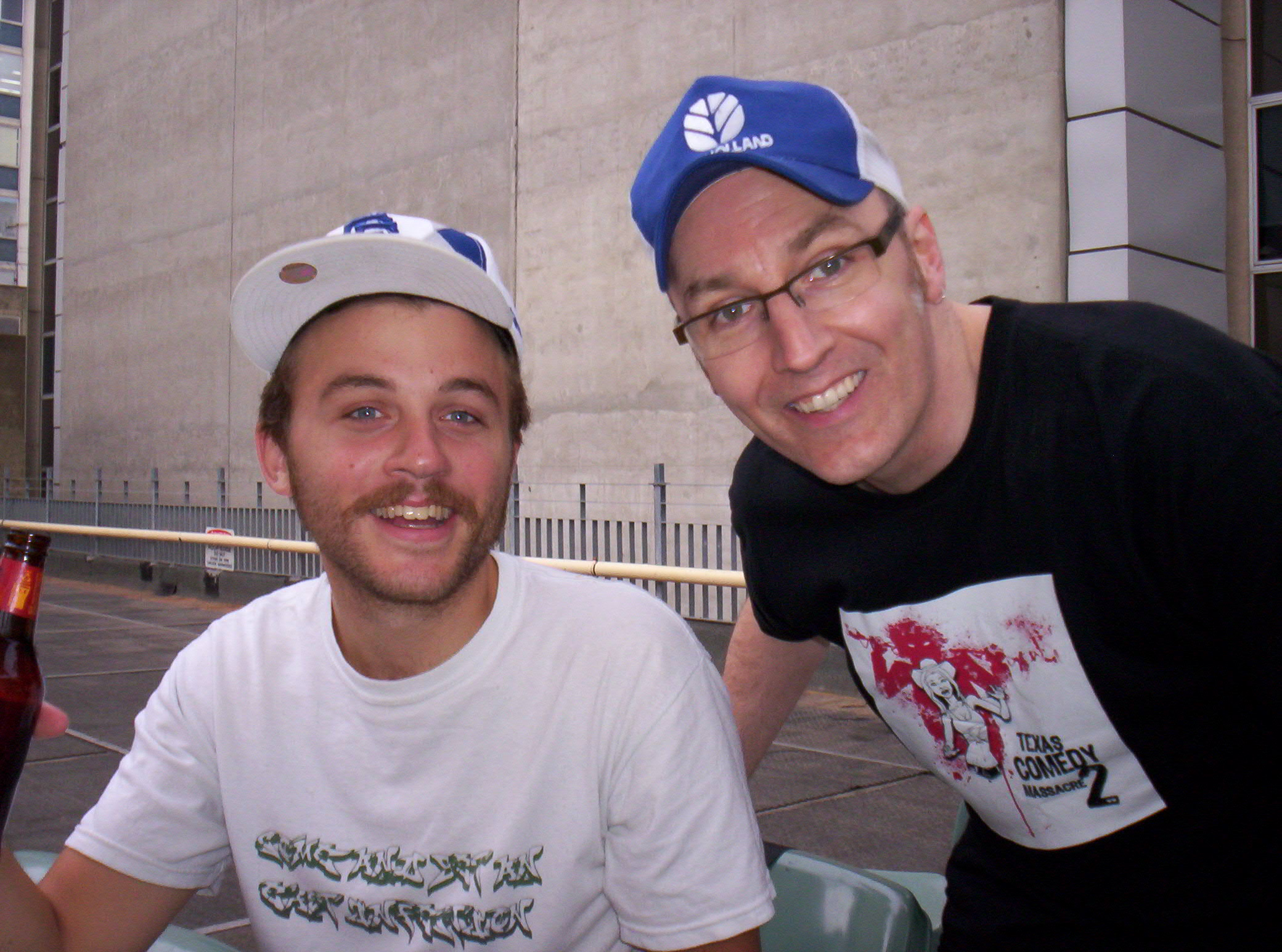 Me and Mike Sheer - Hostel Rooftop - Melbourne - 2008
