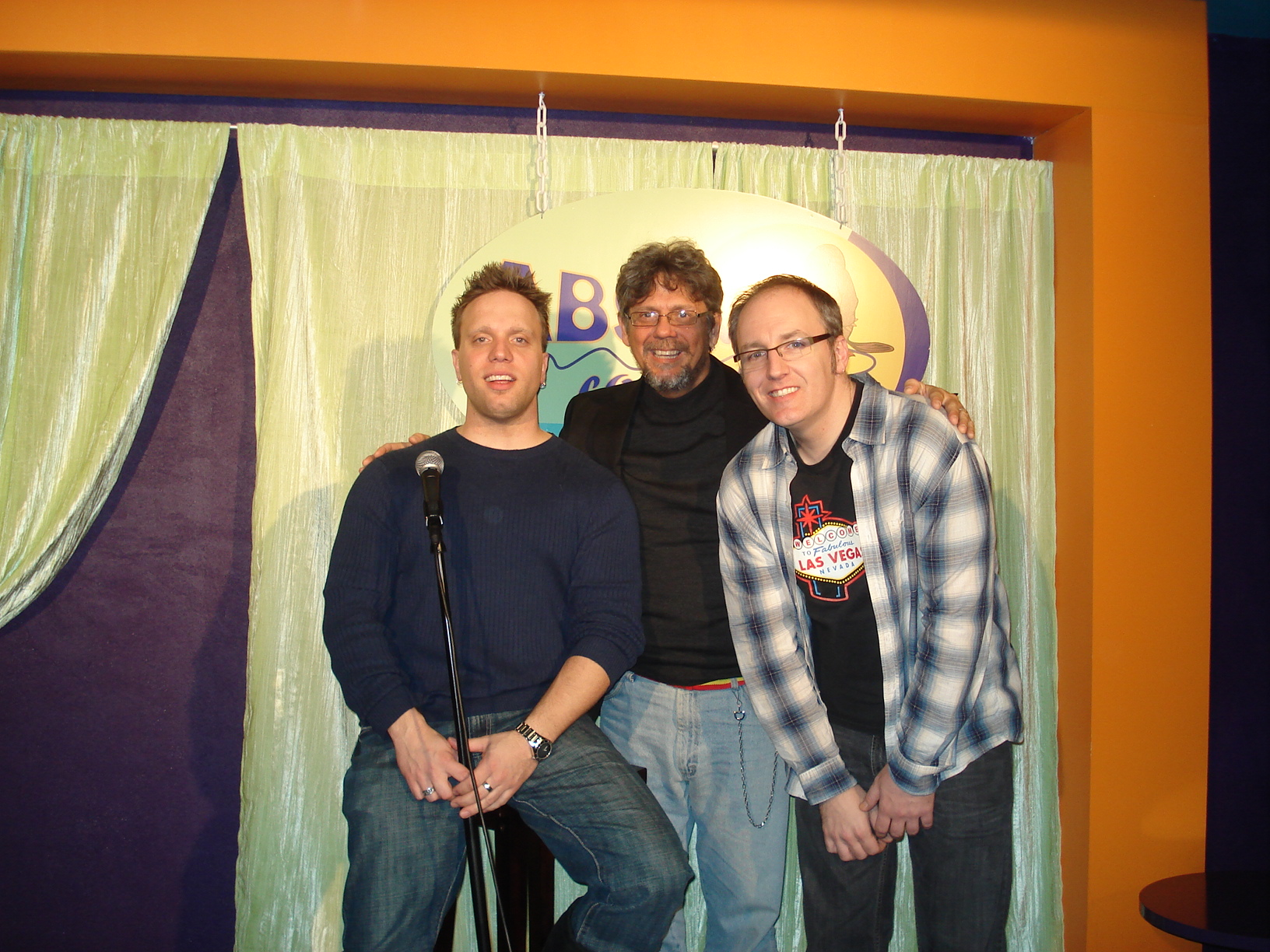Me, Ward Anderson, and JP Bonnet - Absolute Comedy Toronto - 2008