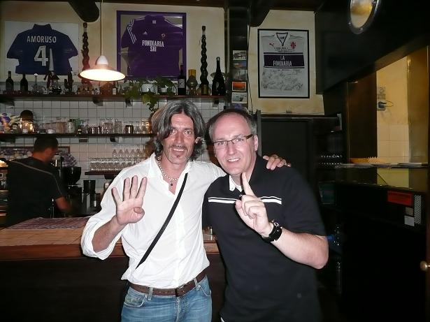 Former Juventus defencer Moreno Torricelli & tva meet up in an Italian restaurant. Two questions: Guess whose restaurant (look top left) and guess the scoreline when his Juve side met Rangers?